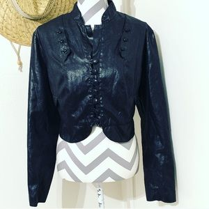 Bisou Bisou Vegan Leather Moto Jacket size XL
